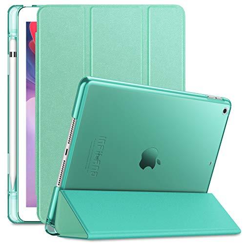 INFILAND Funda para iPad 7, iPad 8 (10,2 Pulgadas, 7ª/8ª Generación, 2019/2020 Modelo), Delgada Translúcido Case Smart...