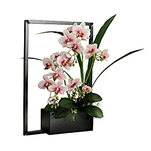 NYKK Decoration Creative Artificial Butterfly Orchid Simulation Flower Set, Iron Artificial Potted Home Artificial Flower Decoration Decoration Floral Art Table Centrepieces