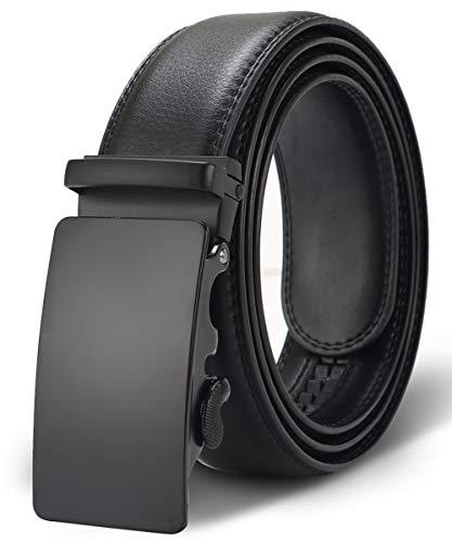 Kuayds Automatischer Ratschengürtel für Herren, Gürtel mit Knopf verstellbar, schwarz 1, One size