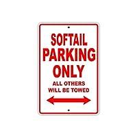 なまけ者雑貨屋 HARLEY DAVIDSON SOFTAIL Parking Only All Others Will Be Towed 金属スズヴィンテージ安全標識警告サインディスプレイボードスズサインポスター看板