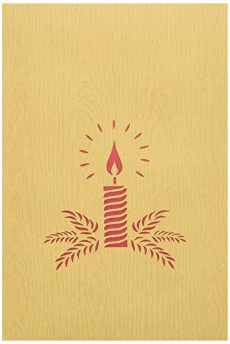 Tarjeta de felicitación con origami, canela de Navidad