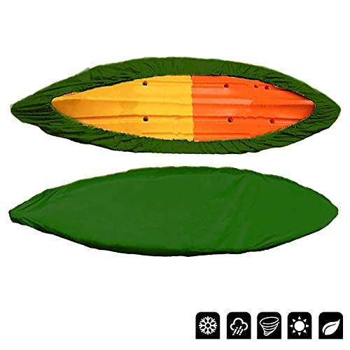 WANDK Deposito di Copertura Kayak 12-13ft, Polvere Impermeabile e Protezione UV Copertura di Stoffa Oxford, Coperchio in Canoa Adatto per Protezione Multipla per la Barca 4.6M-5M