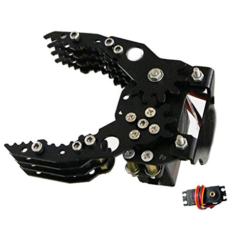 Roboter Greifer Klaue Clamp für Robotic Arm Palm MG-996R Servo für Arduino Manipulator Roboter Hand Finger Pfote - Schwarz