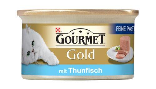Gourmet Gold Feine Pastete mit Thunfisch 85g Katzenfutter (24er Pack) von Purina