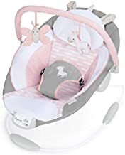 Ingenuity Cradling Bouncer Seat with Vibration and Melodies - Flora The Unicorn, Ultra-Plush Bouncy Seat