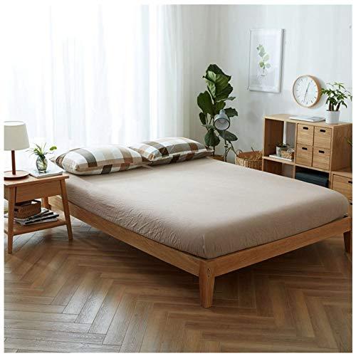 SSCYHT Fodera per materasso per letto ipoallergenico/imbottitura in spugna impermeabile di Cotone Laminato PE/coprimaterasso,Caqui,180X200cm