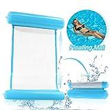 O-Kinee Hamaca de Agua Inflable Flotante Cama Agua Flotante de Agua Plegado Hamaca Hinchable Hamaca Lounge Silla Cómoda Piscina Playa Flotador para Adultos (Azul)