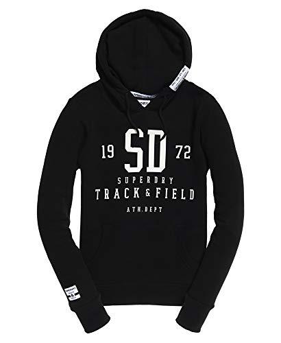 Superdry Track and Field Sweatshirt, Schwarz, Schwarz - Schwarz - Größe: XX-Large