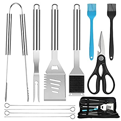 BBQ Grill Accessories Tools Set, 11PCS Heavy Du...