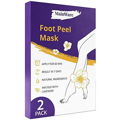 Purederm Lot de 2 masques exfoliants pour les pieds Élimine les callosités et les peaux mortes en 2 semaines
