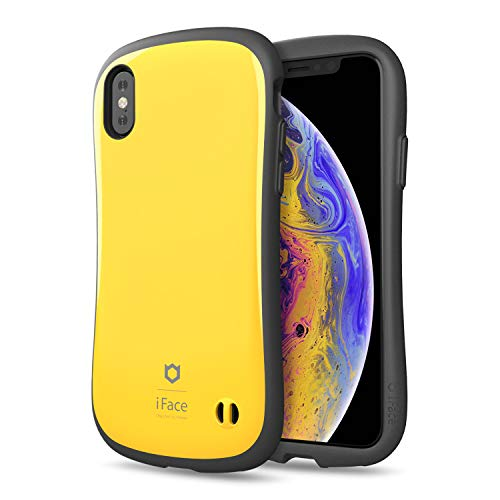iFace First Class Designed for iPhone X/XS – Cute Shockproof Dual Layer [Hard Shell + Bumper] Phone Case [Drop Tested] - Yellow