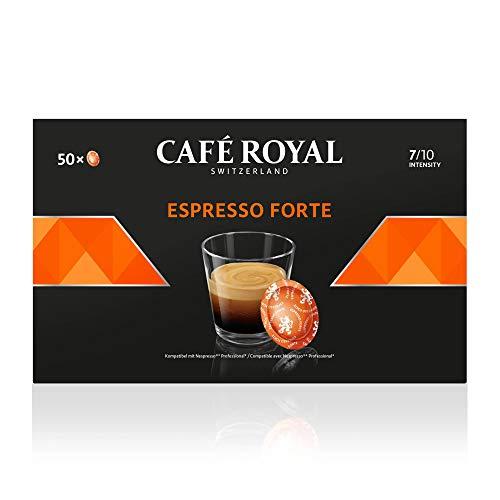CAFÉ ROYAL PRO - ESPRESSO FORTE - 200 Capsules Compatibles Nespresso Pro* (soit 10 Cafés par Jour pour 1 Mois) - Café Éco-Responsable Certifié UTZ - Pour les Professionnels