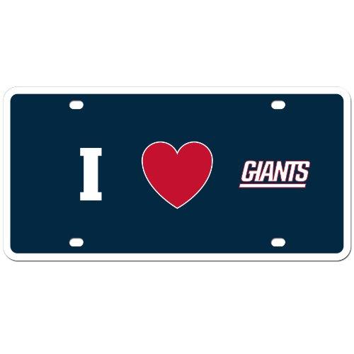 NFL New York Giants Styrene Plate- I Heart Style