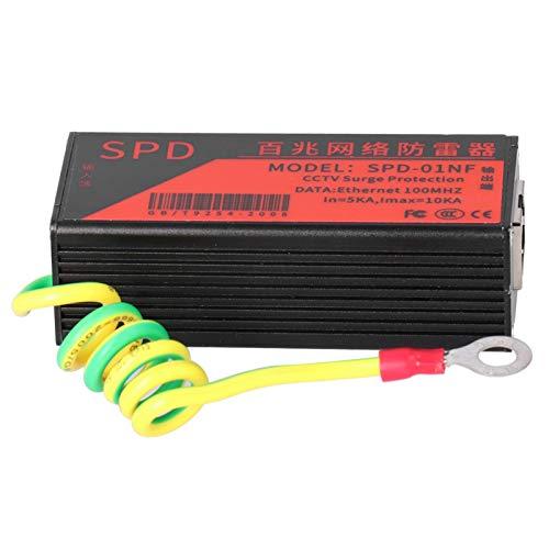 Bicaquu CCTV-Ableiter Ethernet Thunder Arrester, CCTV-Überspannungsschutz, Ableiterschutz Anti-Thunder Office for Home