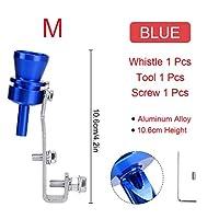 BXU-BG ユニバーサルカーターボホイッスルカーリファレンスターボホイッスルエキゾーストパイプサウンドターボテール (Color : Blue for M)
