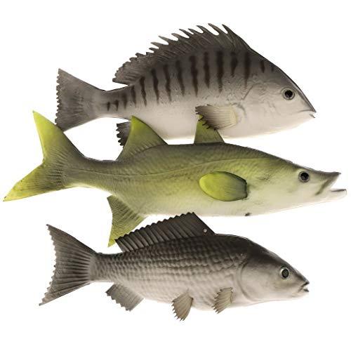 Gresorth 3 Stück Fälschung Fisch vorgeben Künstlich Karpfen Lebensecht Ornament Hängend zum Zuhause Garten Küche Spielzeug Dekoration
