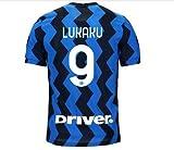 Maglia Calcio Inter Lukaku 9 Maglietta Replica Autorizzata 2020-2021 Bambino Ragazzo Uomo (L)