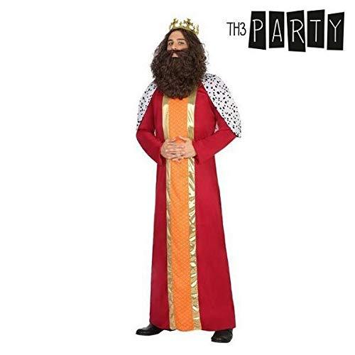Atosa-31575 Disfraz Rey Mago Hombre Adulto, Color Rojo, XS-s (31575)