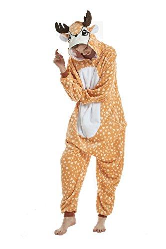 heekpek Jumpsuit Tier Cartoon Fasching Karneval Halloween kostüm Erwachsene Unisex Cosplay Sleepsuit Pyjama Overall Kostüm