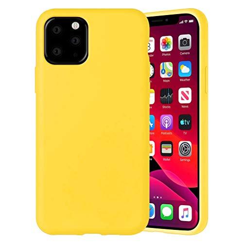 Yoedge Color Sólido Funda para Xiaomi Mi A2 Lite/Xiaomi Redmi 6 Pro 5.84″ Sencillez Carcasa de Silicona Case Protectora de TPU Suave Protección Cover para Xiaomi A2 Lite Teléfono Fundas,Amarillo