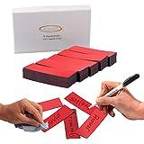 ECENCE 75 Cintas magnéticas reescribibles - 60x20mm Rojo - Tiras Adhesivas recortables - Carteles magnéticos borrables - Etiquetas magnéticas para pizarras Blancas, neveras, tableros mag