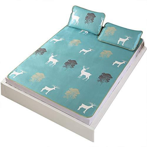 Omabeta Sommer Coole Schlafmatte Verschiedene Größen erhältlich Exquisites(90 * 195cm Pillowcase 48 * 74cm*1)