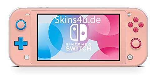 Skins4u Aufkleber Skins für Nintendo Switch Lite Konsole Decal Cover Sticker Schutzfolie Design Solid State Peach