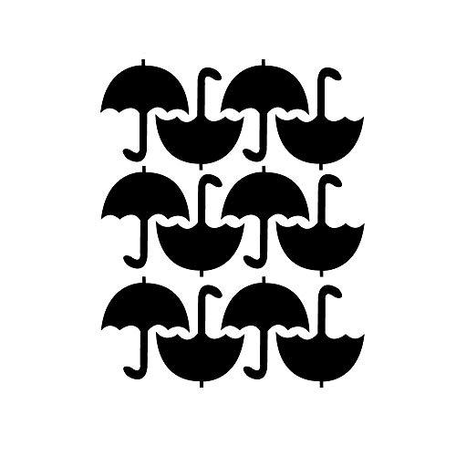 Lichi DIY Pequeño paraguas adhesivo de pared para habitación infantil, negro, Umbrella