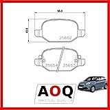 AOQ - PASTIGLIE FRENI POSTERIORI FIAT 500L 1.3 MULTIJET 1.4 0.9