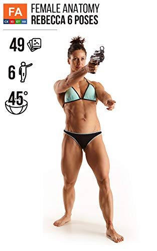 Female Anatomy Rebecca 6 Poses: Female muscular model reference photos for artist (49 images).