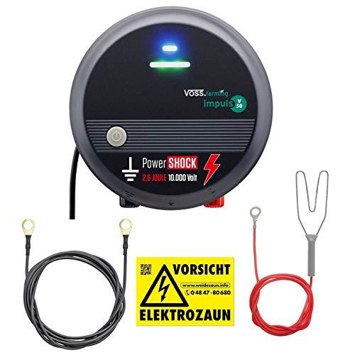 VOSS.farming 230V Weidezaungerät mit PowerShock, gefühlte 5,2 Joule und 10.000V schlagstarkes Elektrozaungerät für einen sicheren Weidezaun