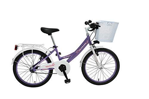 20 Zoll Kinder City Fahrrad MÄDCHENFAHRRAD KINDERFAHRRAD Cityfahrrad Rad Bike Rücktrittbremse Hermosa LILA