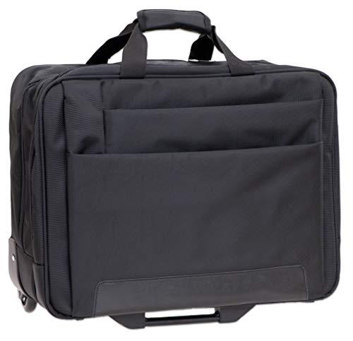 Dermata Mallette 2 roulettes Business 44,5 cm compartiment ordinateur portable noir