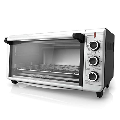 BLACK+DECKER TO3240XSBD 8-Slice Extra Wide Convection Countertop Toaster Oven,...