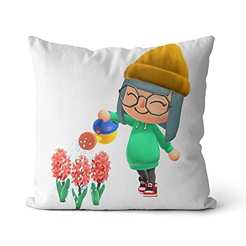 Funda de cojín Animal Crossing Throw Pillow Cojín de impresión Fundas de Almohada Ropa de Cama de Moda Suministro para el hogar Sofá Decoración 16x16 Pulgadas / 40x40cm