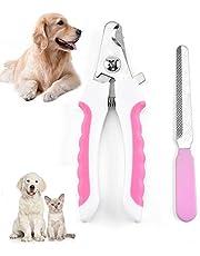 YUEMING Cortador de Uñas Mascotas Kit,Cortauñas de Uñas para Perros y Gatos,Recortadora de Uñas con Protector de Seguridad,Alicates Uñas para Mascotas Perros, Gatos, Conejas