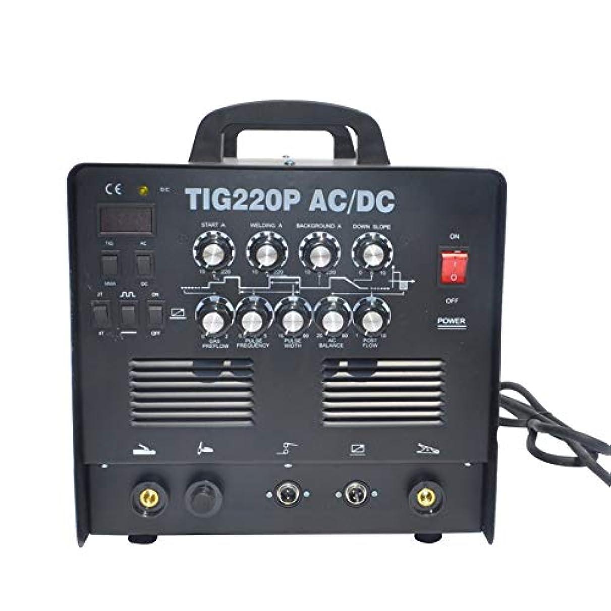 荒涼とした敬の念資料TIG220P インバーターTIG溶接機 単相200V 交流/直流 パルス溶接 アルミOK! 高機能本格モデル 半年保証付き!