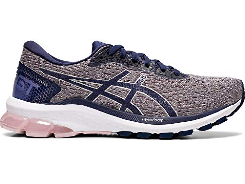ASICS Women's GT-1000 9 (D) Running Shoes, 8.5W, Watershed Rose/Peacoat