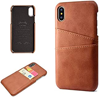 SHUANGRUIYUAN Fashion Premium PU Leather Wallet Anti-Scratch Protective Back Case with Card Slots for iPhone Xs Max 6.5 inch (Color : Brown)