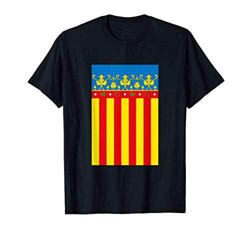 Flag Of Valencia Spain Souvenir Vertical Royal Senyera Camiseta
