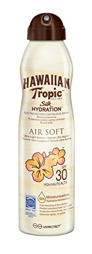 Hawaiian Tropic Bruma Silk Hydration Air Soft - SPF 30 Protective Sunscreen Spray with SPF 12, Water resistant with 177 hours of protection, XNUMX ml format