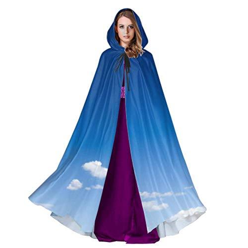 ZHANGhome Blauer Himmel Mit Weißen Wolken Erwachsene Umhang Männer Umhang 59 Zoll Für Weihnachten Halloween Cosplay Kostüme
