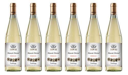 Jidvei | TRADITIONAL Muscat Ottonel - Vin Alb Demidulce | Weißwein lieblich aus Rumänien | Weinpaket 6 x 0,75 L D.O.C. + 1 Kugelschreiber Amigo Spirits gratis