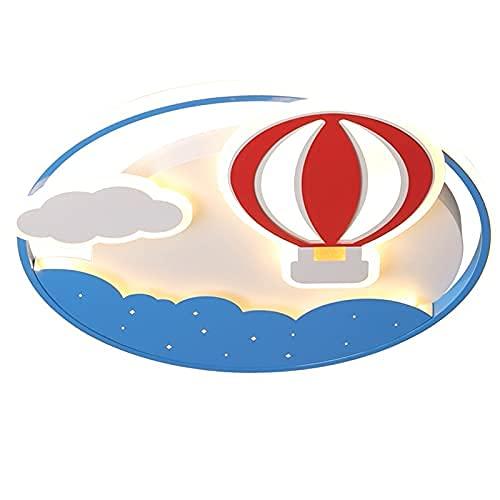 Lámpara de pared con luz de techo con globo aerostático para niños bebés atenuación de brillo LED y control remoto continuo dibujos animados volando en el cielo lámpara de viaje tropica