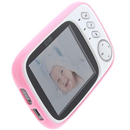 foto-kontor Hülle für GHB Babyphone 3,2 Zoll Tasche Gummi TPU Schutz pink