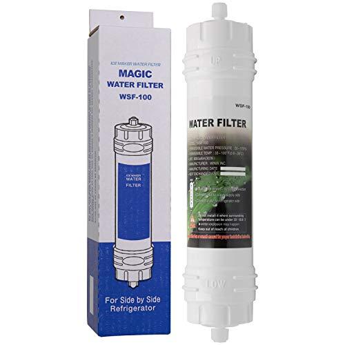 Magic Water Filter WSF-100 | Filtre à Eau pour réfrigérateur Samsung - Cartouche filtrante Externe pour frigo américain - Filtre en Ligne WSF100