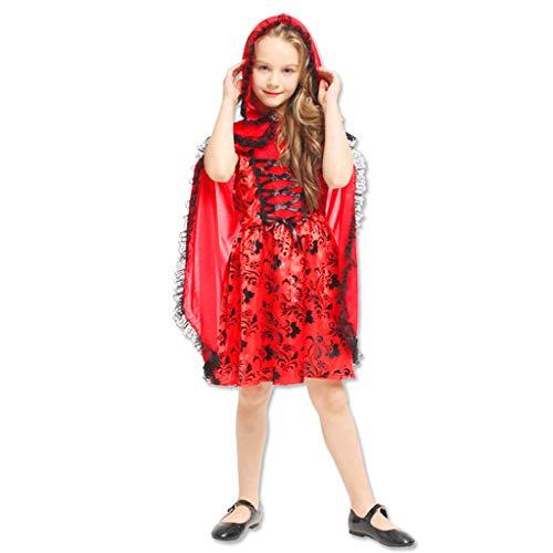 JPOYT-O Disfraz De Halloween para Niños Caperucita Roja(Size:130-140CM)