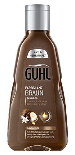 Guhl Farbglanz braun Shampoo, 4er Pack (4 x 250 ml)