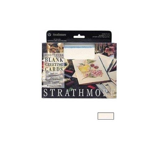 Strathmore STR-105-30 Ivory Deckle Card (20 Pack)