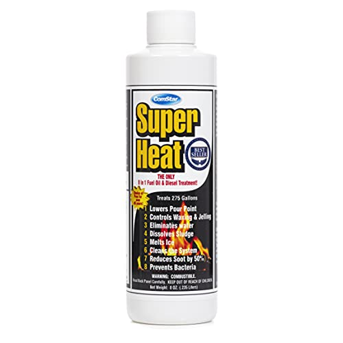 ComStar 60-129 Super Heat 8-In-1 Heating and Fuel Oil Treatment, 8 oz, Single Bottle